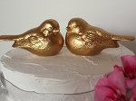 Wedding Cake Topper Birds in Gold