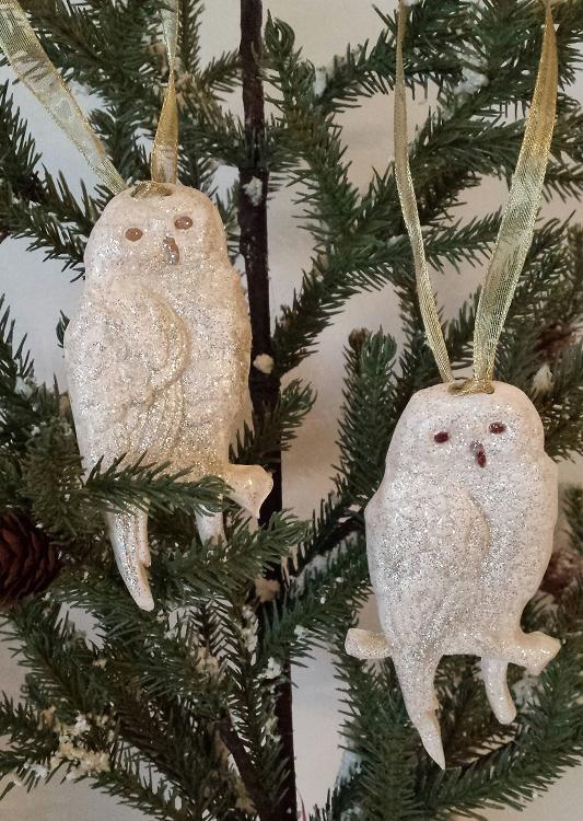 Christmas Owl.Christmas Owl Ornament Stocking Stuffers Ceramic Owl Home Decor Gift