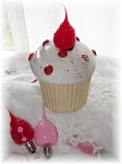 Cupcake Nightlight Red
