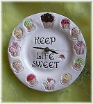 Cupcake Design Ceramic Clock