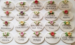 Ceramic Garden Plaques With David Austin Rose Names