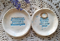 Best Friend Gift Ceramic Dish Inspirational Humor Bridesmaid Gift Personalized Dish Birthday Inspirational Gift Price is for One