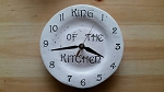 Clock For Men King Of The Kitchen Ceramic 8