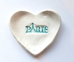 Paris Trinket Dish Gift Ceramic Tea Bag Holder Ring Dish Soap Dish Home Decor