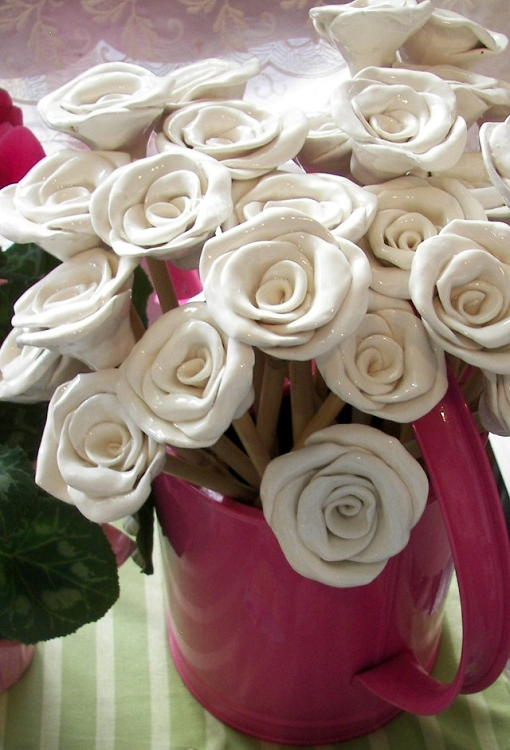 Roses on Stems