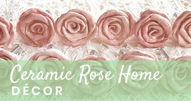 Ceramic Rose Home Decor