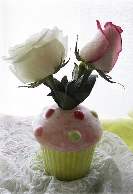 Cupcake Bud Vase or pencil Holder