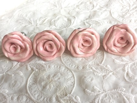 Rose Knobs Drawer Pulls Pink