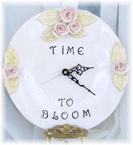 Time To Bloom Ceramic Clock